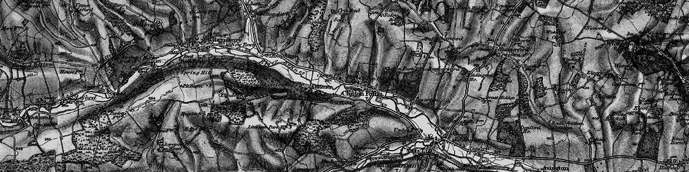 Old map of Chilton Foliat in 1895