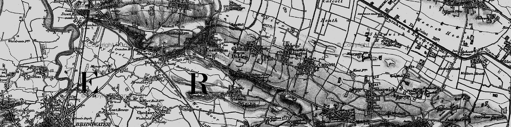 Old map of Chilton Polden in 1898