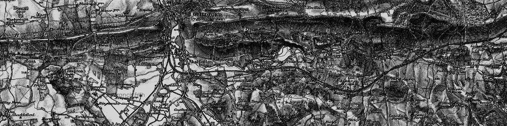 Old map of Wonersh Common in 1896