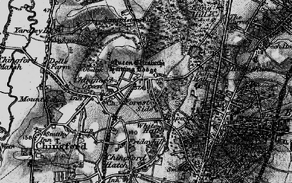Old map of Chingford in 1896