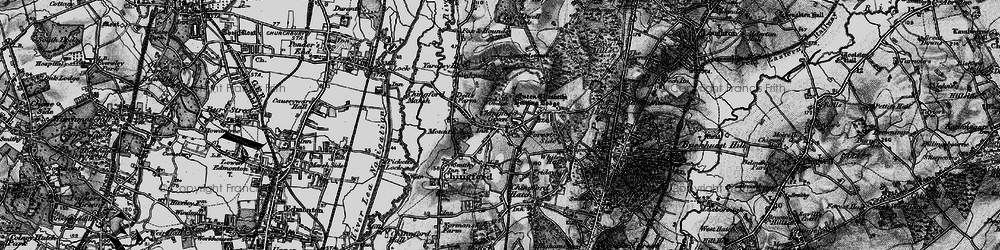Old map of Chingford Green in 1896
