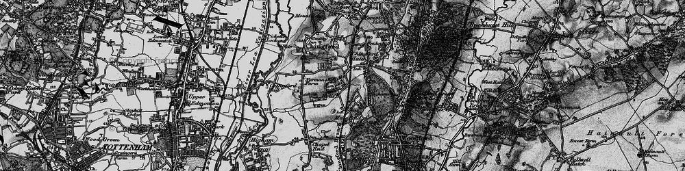Old map of Chingford Hatch in 1896