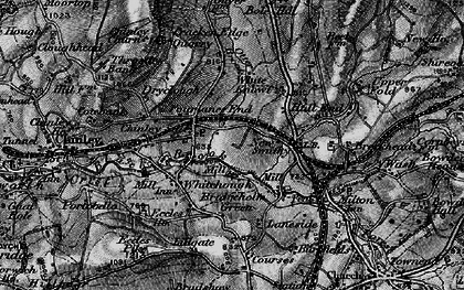 Old map of Chinley in 1896