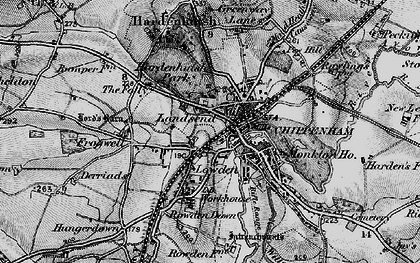 Old map of Chippenham in 1898