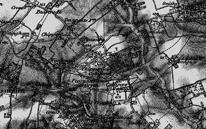 Old map of Chipperfield in 1896