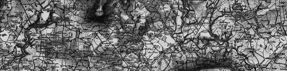 Old map of Wolfen Hall in 1896