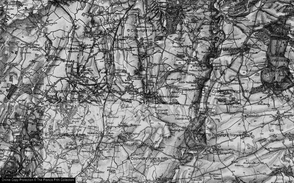 Old Map of Chipping Sodbury, 1898 in 1898