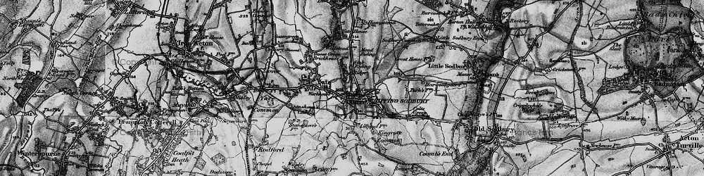 Old map of Chipping Sodbury in 1898