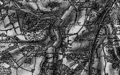 Old map of Banstead Wood in 1896