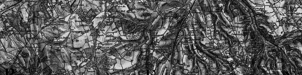 Old map of Chipstead in 1896