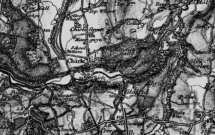 Old map of Chirk in 1897
