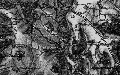 Old map of Chisbridge Cross in 1895