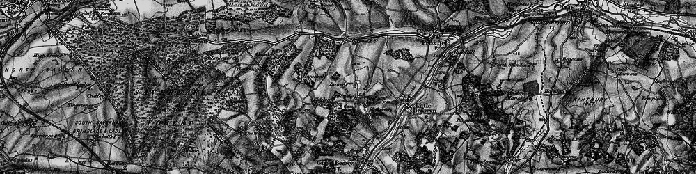 Old map of Almshouse Copse in 1898