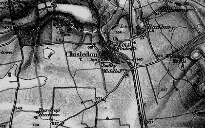 Old map of Chiseldon in 1898