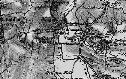 Old map of Chiselhampton in 1895