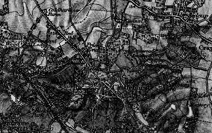 Old map of Chislehurst in 1895