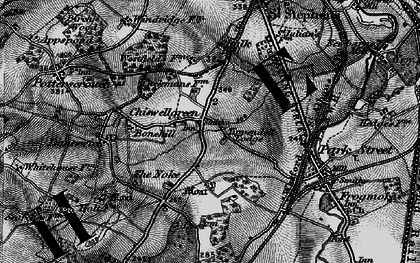 Old map of Chiswell Green in 1896