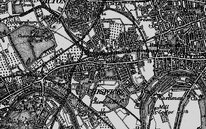 Old map of Chiswick in 1896