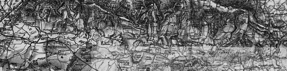 Old map of Chithurst in 1895