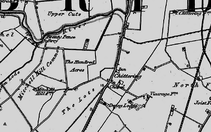Old map of Chittering in 1898