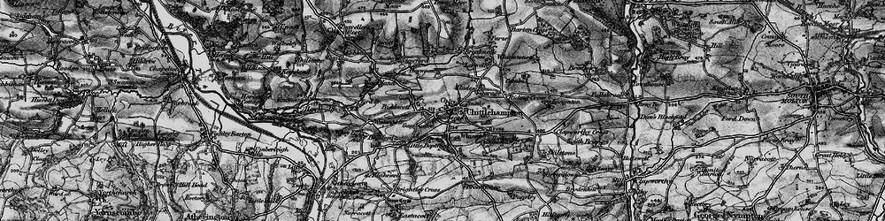 Old map of Winson in 1898