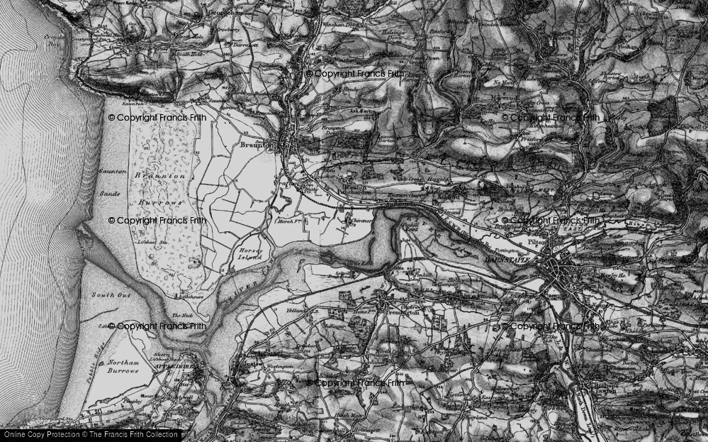 Old Map of Historic Map covering Allen's Rock in 1897