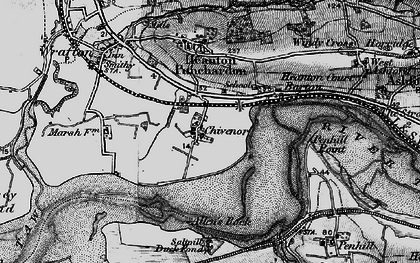 Old map of Allen's Rock in 1897