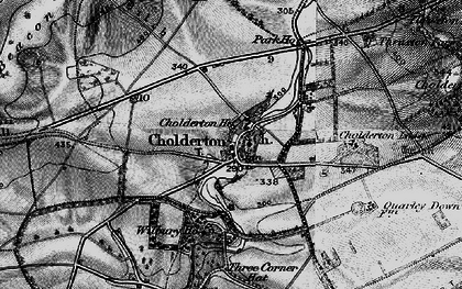 Old map of Cholderton in 1898