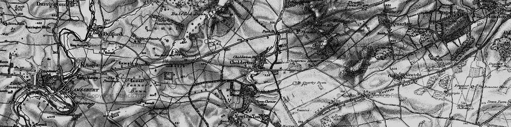 Old map of Wilbury Ho in 1898