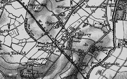 Old map of Cholsey in 1895