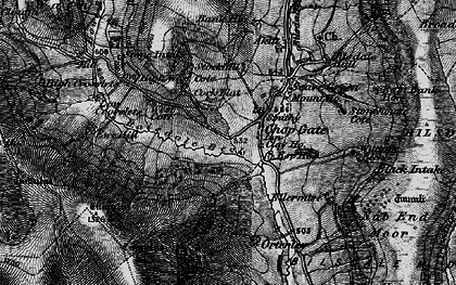 Old map of Barker's Crags in 1898