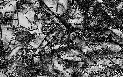 Old map of Chorleywood Bottom in 1896