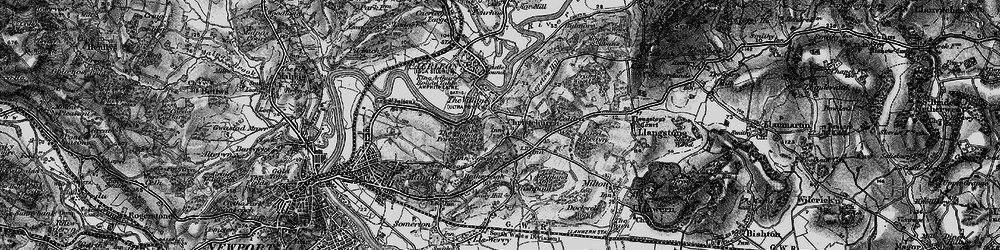 Old map of Christchurch in 1897