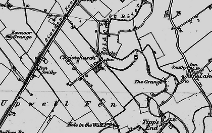 Old map of Christchurch in 1898