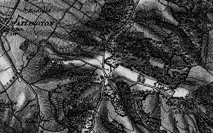 Old map of White Mark in 1895