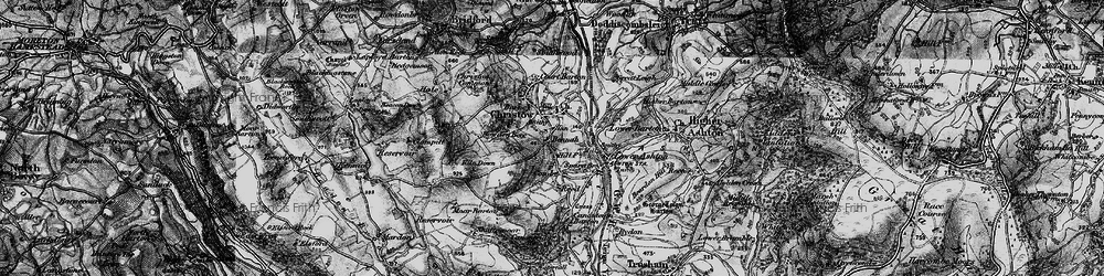 Old map of Christow in 1898