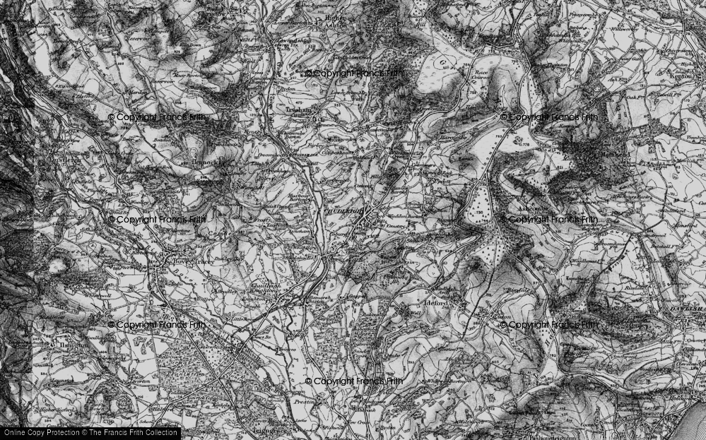 Old Map of Historic Map covering Lawell Ho in 1898