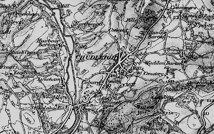 Old map of Chudleigh in 1898