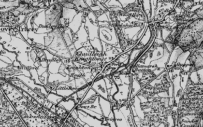Old map of Chudleigh Knighton in 1898