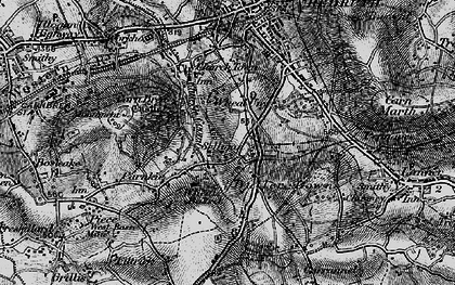 Old map of Church Coombe in 1895