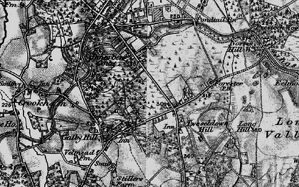 Old map of Aunt's Pool Hill in 1895