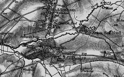 Old map of Church End in 1895