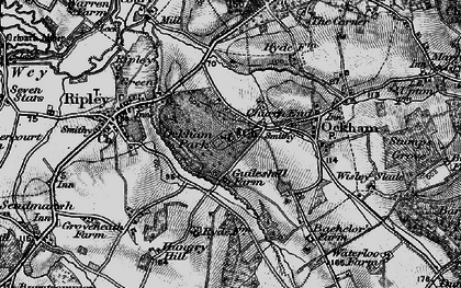 Old map of Church End in 1896