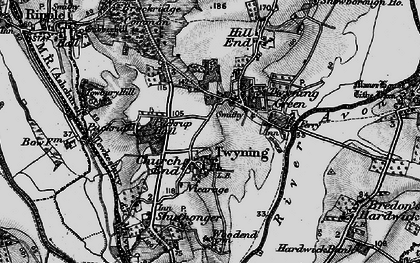 Old map of Church End in 1898