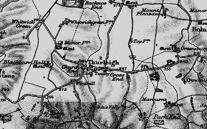 Old map of Backnoe End in 1898
