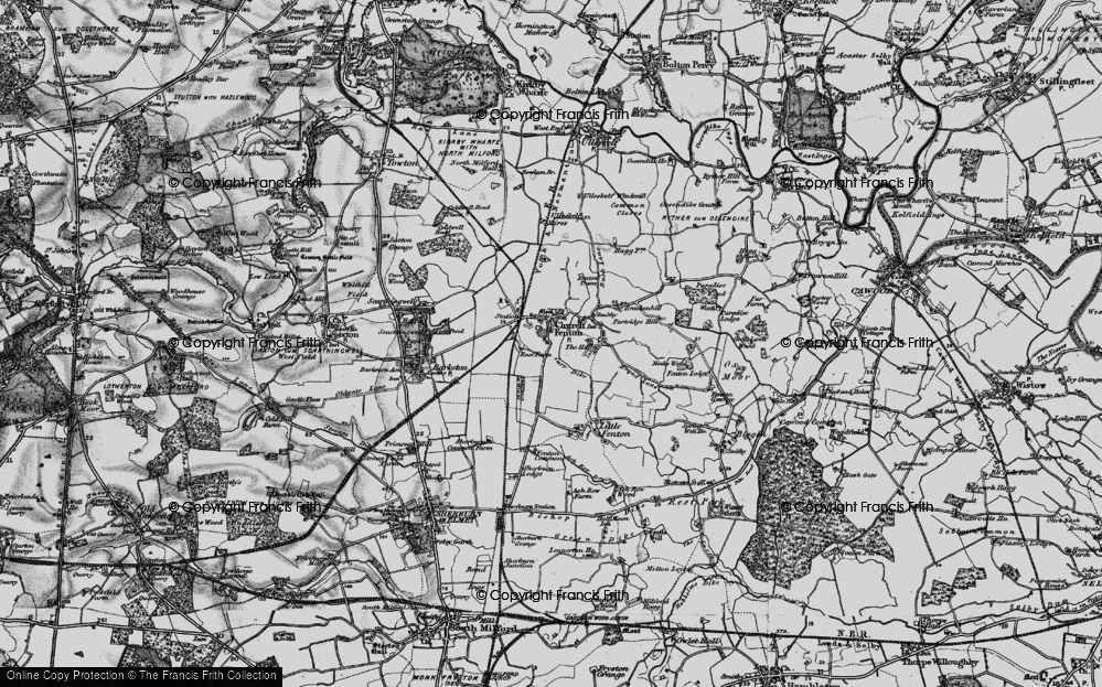 Old Map of Church Fenton, 1898 in 1898