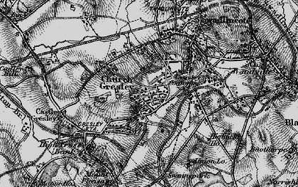 Old map of Church Gresley in 1895