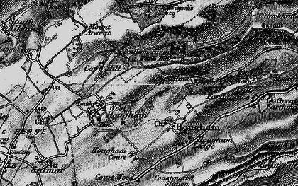 Old map of Abbot's Cliff in 1895