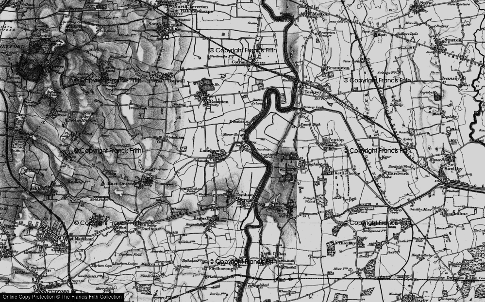 Old Map of Historic Map covering Laughterton Marsh in 1899