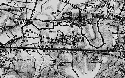Old map of Avon Ho in 1899